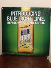 Labatt Blue Light Lime Embossed Tin Beer Sign