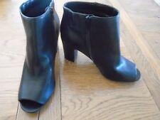 BNWOT ladies black peep toe boots. M&S. Size 7.5.  RRP £39.50    (1/4)