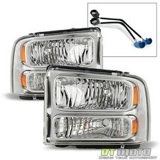 99-04 Ford Super Duty F250/F350/F450/F550 Excursion Conversion Headlights Lamps