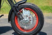 New Jaybrake Chrome Quad Series 4 Piston Front Brake Caliper Kit Harley Springer