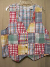 VICTORIA JONES PETITES Womens Country/Western/Farm Quilt/Patchwork Style Vest,PL