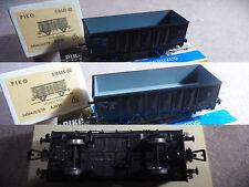 WAGON marchandise TOMBEREAU vert PIKO HO coach waggon (46) + boite box 5/6445-02