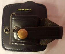"2 x Police Black Leather Rigid Handcuff Holder fits 2"" Kit Belt  Quantity 2 (Q)"