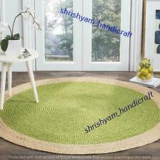 Braided Handmade Hand Woven Natural Round 180x180 CM Jute Home Decor Carpet Rugs