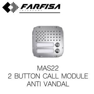 FARFISA MAS22 2 BUTTON MODULE PROFILO ANTIVANDAL DOOR ENTRY INTERCOM SYSTEM