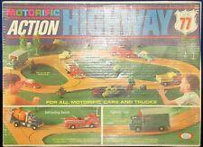 Vintage 1967 Ideal Motorific Action Highway 77 Set WGravel Dump Truck & 2 Motors