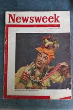 VINTAGE NEWSWEEK MAGAZINE MILTON BERLE CARMEN MIRANDA COVER AS IS 1949