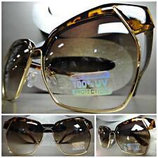 CLASSIC VINTAGE 70's RETRO Style PARTY SUN GLASSES Unique Tortoise & Gold Frame