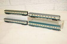 N gauge NEAR MINT 4x Fleischmann DB Coach in Green White livery NICE SET