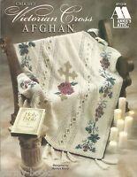 Victorian Cross Afghan Crochet Patterns Marilyn Mezer Annie's Attic Roses NEW