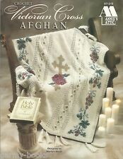 Victorian Cross Afghan Crochet Patterns Marilyn Mezer Annie's Attic Roses NEW
