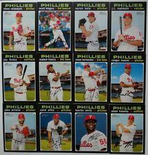 2020 Topps Heritage Philadelphia Phillies Base Team Set of 12 Cards