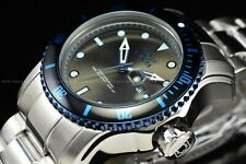 Invicta Men's 49mm Pro Diver Scuba Silver Gray Dial Florescent Blue Bezel Watch
