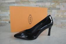 ORIGINAL Tods Tod´s ESCARPINS 35 Chaussures cuir de veau PENTURE Noir Neuf