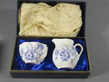 Coalport Creamer & Sugar Divinity Blue Pattern w/ Original Box