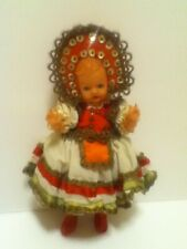 Vintage 1950's Hard Plastic Walking Doll With Darling Outfit, Hat & Boots