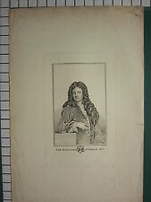 c1790 LARGE ANTIQUE PRINT ~ SIR RICHARD STEELE ~