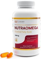 Omega 3 Triglyceride Fish Oil 1200mg NutraOmega Essential Fatty Acids 2 Month Su