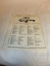 Werbung Reklame Datenblatt VDA-Typenblatt Oldtimer LKW Ford TYP FK 4500 1961