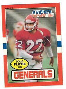 DOUG FLUTIE 1985 Topps USFL #80 Rookie RC NEW JERSEY GENERALS Boston College