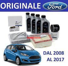 KIT TAGLIANDO FILTRI ORIGINALI + OLIO + 4 CANDELE FORD FIESTA 6 VI 1.4 GPL 2008>