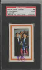 Patrick Roy Brian Hayward 1989 Panini Sticker Dual Autograph SGC Canadiens