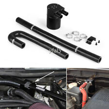 Black Aluminum Oil Catch Can Tank With Radiator Silicone Hose for BMW N54 335i 5