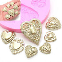 Heart Brooch Silicone Mold Fondant Cake Cooking Tools Cupcake Chocolate Mould Jf