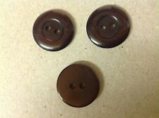 NEW 25  PC BAG CHOC. BROWN PEARL FINISH 3/4 INCH BUTTON