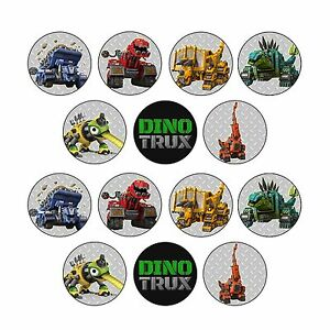 24x Dinotrux Edible Cupcake Toppers Images Wafer Paper 4cm (uncut)