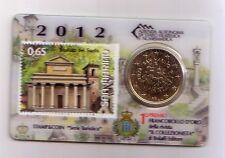 San Marino 50 cent stamp&coincard 2012 Palazzo del Santo
