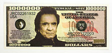 Johnny Cash USA fantasy paper money currency One Million Dollars Legends Series