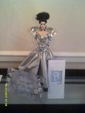 Used Silver Starlight Porcelain Barbie Doll