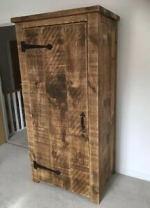 HANDMADE - RUSTIC SOLID WARDROBE - ALL SIZES - MADE TO MEASURE ! NEW