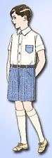 1920s Vintage Pictorial Review Patterns 2600 Boys Blouse & Short Trousers Sz 10