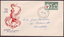 1955 YMCA ON WESLEY COVER SERVICE FIRST DAY COVER - ADDRESSED (RU1006)