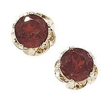 Orecchini di lusso con gemme bottoni rossi