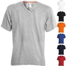 PAYPER T-Shirt V-NECK Scollo a V Mezza Manica Corta Uomo 100% Cotone Maglietta