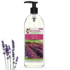 MyThaiMassage Massageöl Aroma Lavendel 1000ml (1 Liter) - Blumig & Entspannend