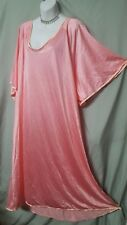 "Woman Within Pink w/Peach Nightgown Long Sexy Comfy Sz 4X 68"" Bust"