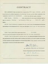 1931 DON RIDLER (Early NFL & Mich St. Football) Signed Game Contract