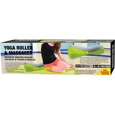 YOGA ROLLER INVIGORATE VIBRATING MASSAGER RELIEF TENSION IN MUSCLES FITNESS