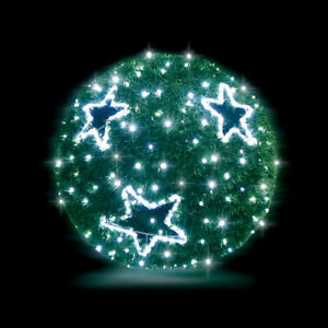 Christmas LED String Light Garland Sphere 50cm Cool White Outdoor Large 3D Motif