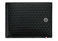 S.T. Dupont 6 Credit Card, Leather Billfold Wallet, Fire Head Pattern 180090 NIB