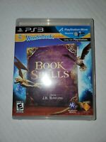 USED Wonderbook Book of Spells From J.K Rowling PS3 Playstation 3 TESTED WORKING