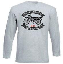 HONDA XL 185-NUOVO GRIGIO T-shirt A Maniche Lunghe-Tutte le taglie in magazzino