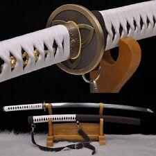 Sharp Walking Dead Samurai Sword -Michonne's Katana Clay Tempered Patter Steel