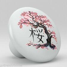 Japanese Sakura Ceramic Knobs Kitchen Drawer Cabinet Vanity Closet Pulls 659
