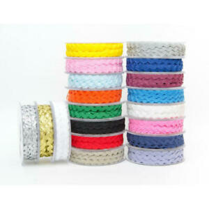 9mm RIC RAC Ribbon/Braid/Trim RICRAC *MASSIVE 20 Metre Reel*All Colours*UK STOCK