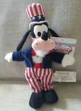 Disney Store Uncle Sam Goofy~ 4th Of July Patriotic Bean Bag Plush ~Nwt~🇺🇸
